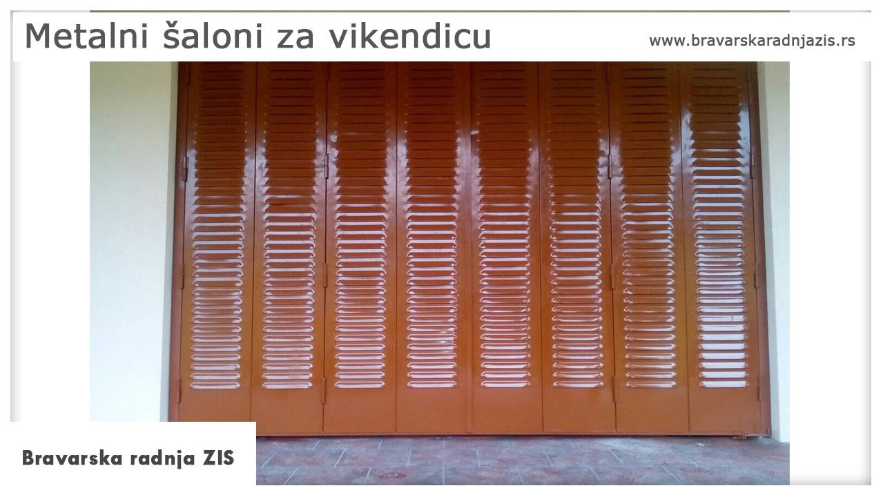 Metalni šaloni za vikendicu - Bravarska radnja ZIS